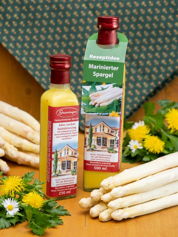 Perfekt für marinierten Spargel! Das Rezeptvideo finden Sie unter www.gruninger-dressing.de