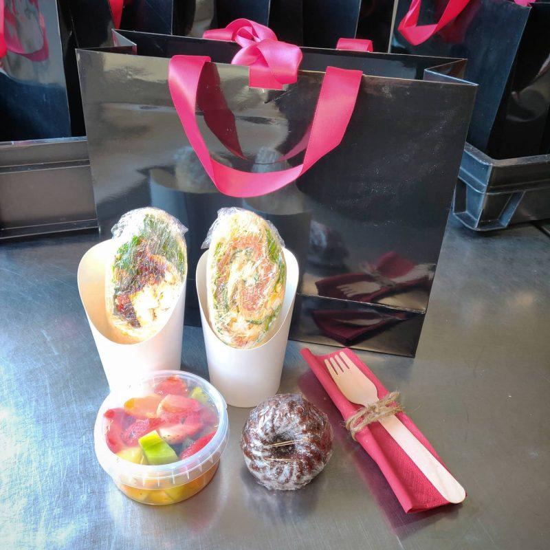 Heute Lunchboxen für eine Firmenschulung Take Away
