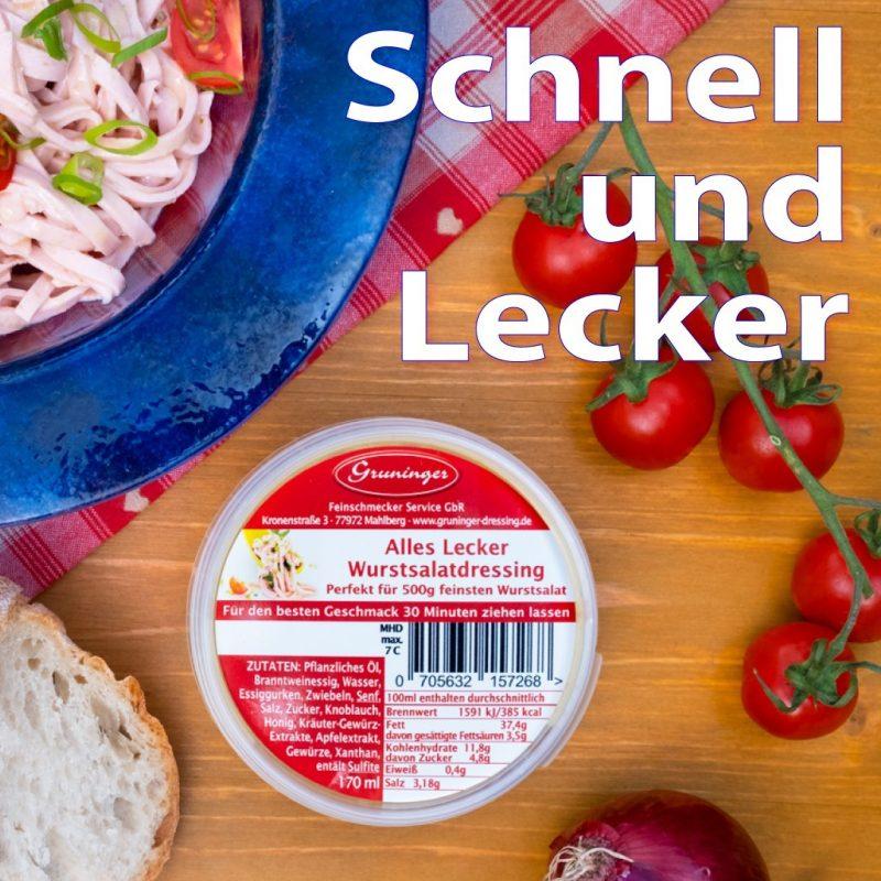 Jetzt auch im Edeka Müller Kenzingen: Alles Lecker Wurstsalatdressing Für den schnellen Genuss! Direkt neben der geschnittenen Wurst im Kühlregal. Einfach anmachen und fertig 🤩